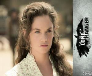 Puzle Rebecca Reid (Ruth Wilson) no filme O Cavaleiro Solitário