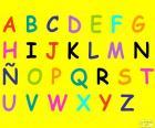 Alfabeto com letras maiúsculas