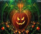 Abóbora típica da Halloween