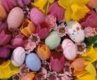 Coelhos com ovos da Páscoa