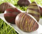 Chocolate ovos da Páscoa