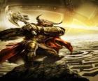 Monitauro - Monstro gigante com corpo humano e cabeça de touro como um guerreiro armado