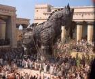 O Cavalo de Tróia, um gigante cavalo oco de madeira