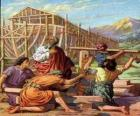 Noé construiu a sua arca para salvar do grande dilúvio aos elegidos