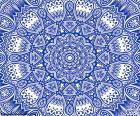 Mandala de flor azul