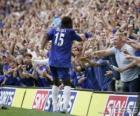 Didier Drogba comemorando um gol