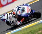Jorge Lorenzo pilota seu moto GP