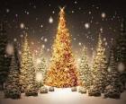 Árvore de Natal ouro