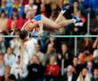 Atleta fazer um salto à vara