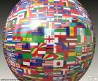 Esfera com bandeiras