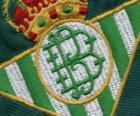 Escudo bordado de Real Betis de uma camiseta