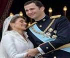 O príncipe Felipe e da princesa Letizia na dança de gala em atitude amorosa