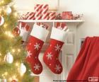 Meias Natal chaminé