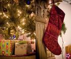 Meia de Natal pendurada
