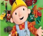 Bob o Construtor com suas máquinas