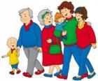 Caillou de passeio com sua família
