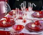 Mesa preparado para Dia de Natal