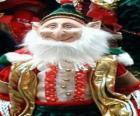 Elfo de Natal com orelhas pontiagudas e chapéu pontiagudo