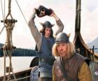 Tjure prestes a quebrar um vaso na cabeça de Snorre