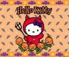 Hello Kitty vestida em Halloween