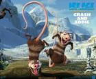 Crash e Eddie, dois gambás problemático