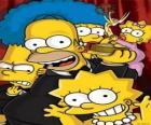 Os Simpsons recebendo um prêmio