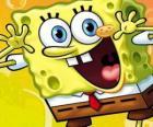 Bob Esponja é uma esponja do mar, com grandes olhos