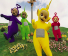 Os Teletubbies: Laa-Laa, Tinky Winky, Po e Dipsy