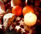 Vela acesa de Natal