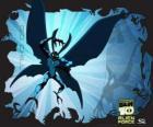 Big Chill ou Calafrio como uma mariposa alienígena, com asas e antenas que pode se tornar invisível