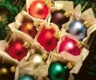 Caixa de bolas de Natal