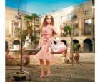 Barbie atriz filmar um anúncio