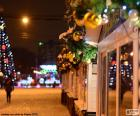 Rua decorada Natal