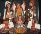 Figuras de cerâmica do Peru