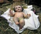 O Menino Jesus na manjedoura