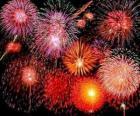 Fogos de artifício em comemoração do Ano Novo