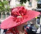 Pamela vermelho, são muito abas largas chapéus usados por mulheres