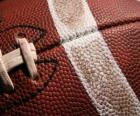 Detalhe bola futebol americano