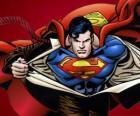 Desenho de Clark Kent, tornando-se o Super-homem