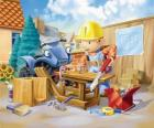 Bob trabalhou como carpinteiro