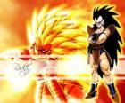 Raditz, um Saiyan, o irmão mais velho de Goku, que conseguiu sobreviver a destruição do planeta Vegeta