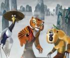 Garça, Tigresa, Macaco e Mantis