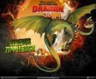 Ziperarr Epiante ou Horrendous Fecheclerus, com duas cabeças, é o maior dragão e uma das mais perigosas
