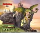 Os dragões Ziperarr Epiante ou Horrendous Fecheclerus causam explosões, enquanto uma cabeça emite gás, a outra o acende