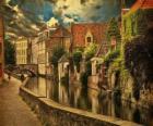 Centro histórico da cidade de Bruges, Bélgica
