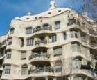 Obras de Antoni Gaudí. Ou La Pedrera Casa Mila por Gaudi, Barcelona, Espanha.