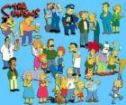 Vários personagens de Os Simpsons