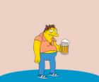 Barney Gumble patrono regular de bar de Moe