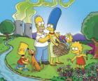 A família Simpson, em um dia de piquenique