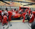 Ferrari prática pit stop, Shanghai 2010